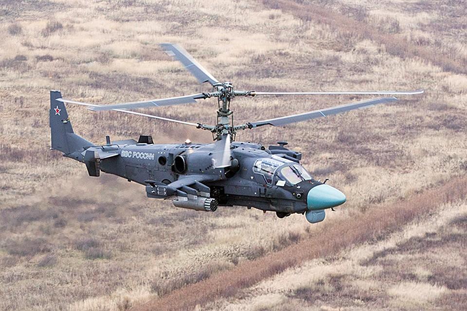 Ка-52 над землей