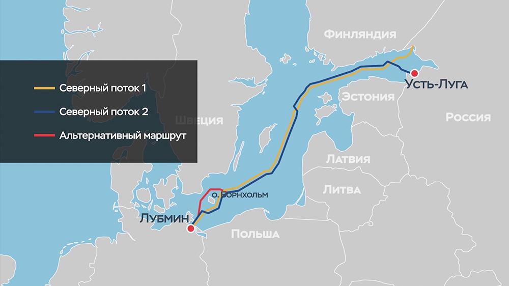 """Карта """"Северных потоков"""""""
