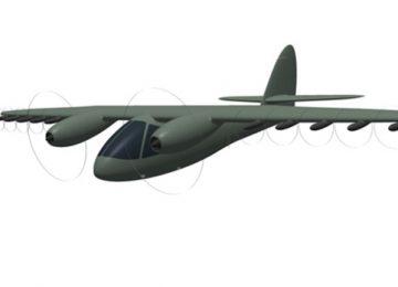 Модель самолета со сверхкоротким разбегом