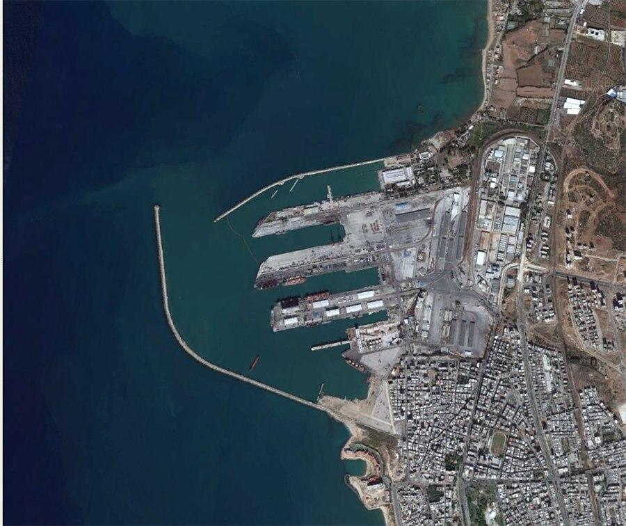 Порт Тартус, вид сверху