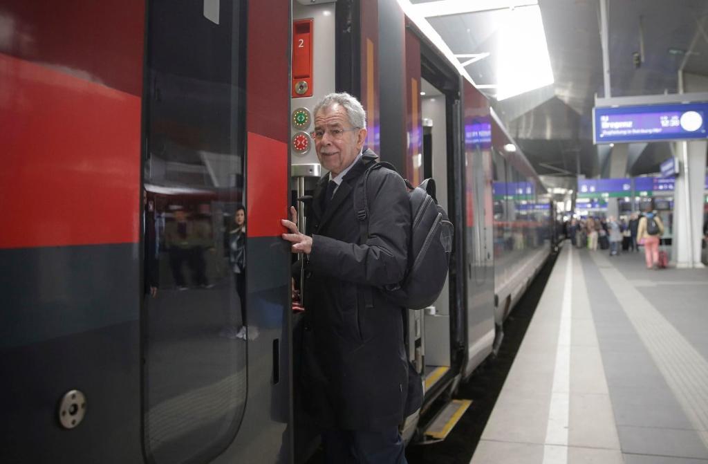 Президент Австрии в метро