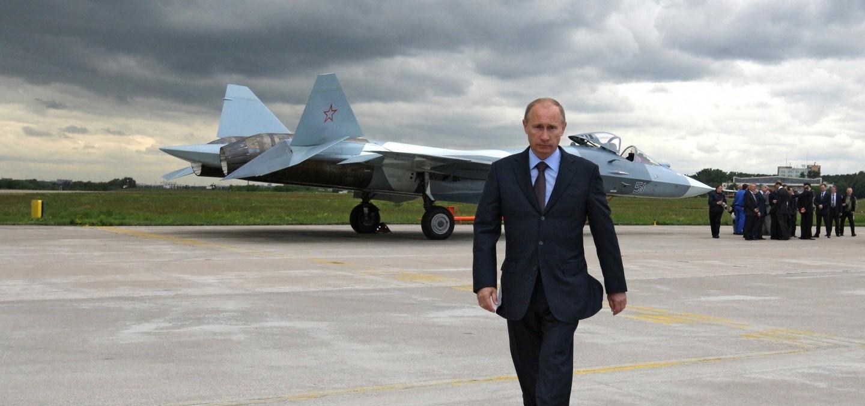 Путин на аэродроме