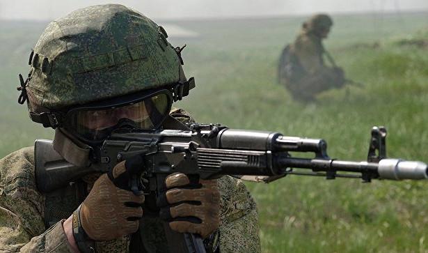 Спецназовец не упирает приклад