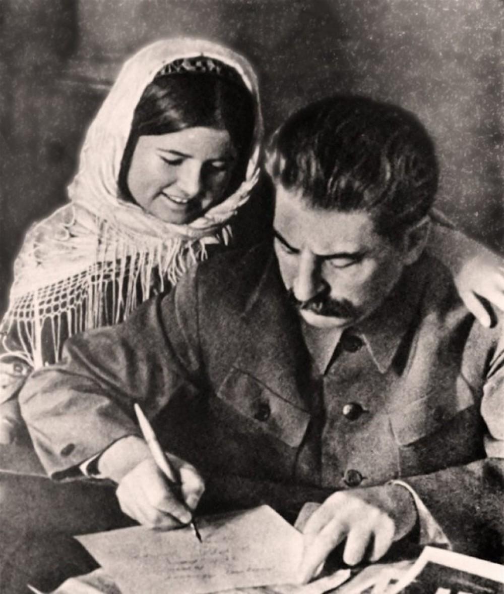 Сталин и девушка