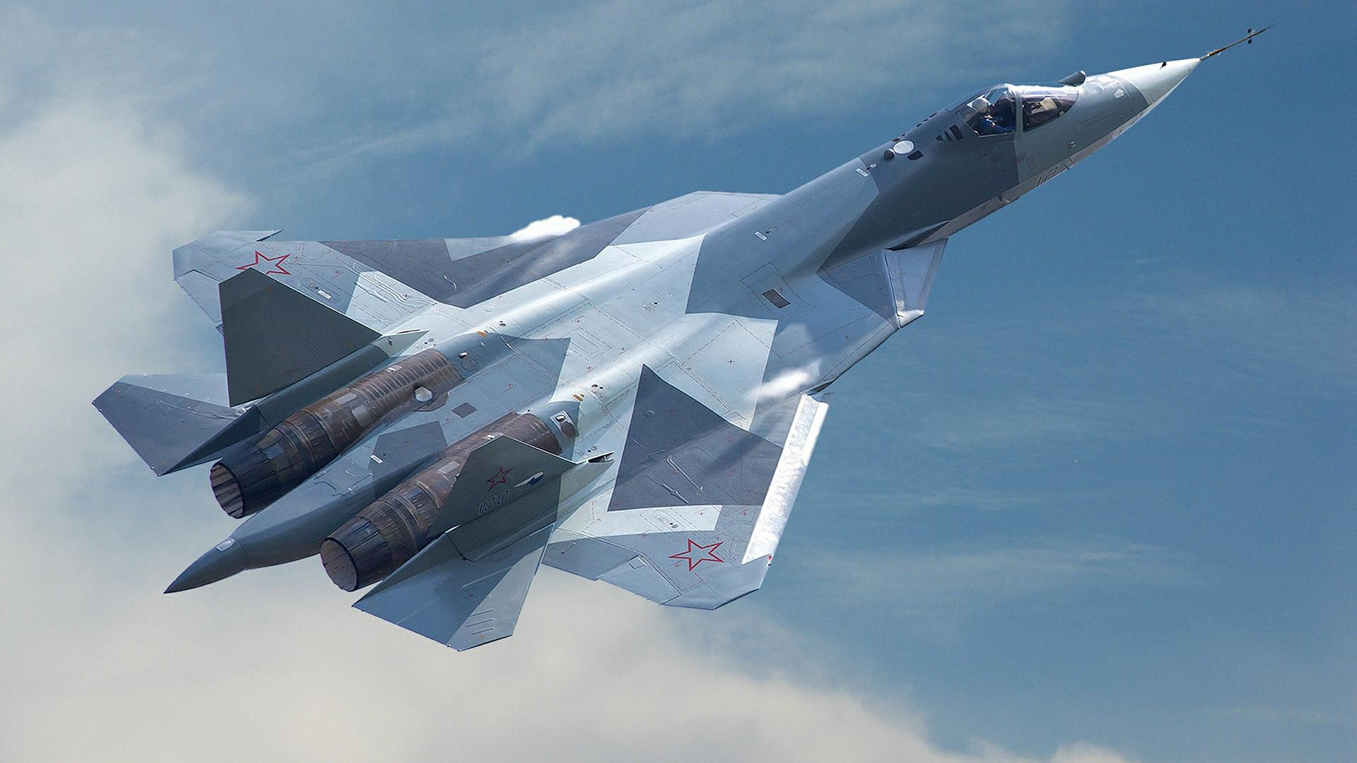 Су-57 в полете
