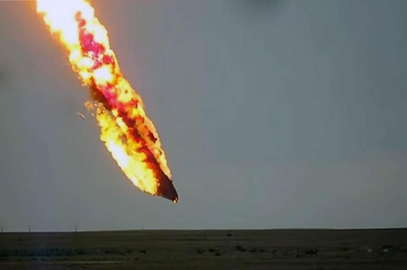 Авария космической ракеты