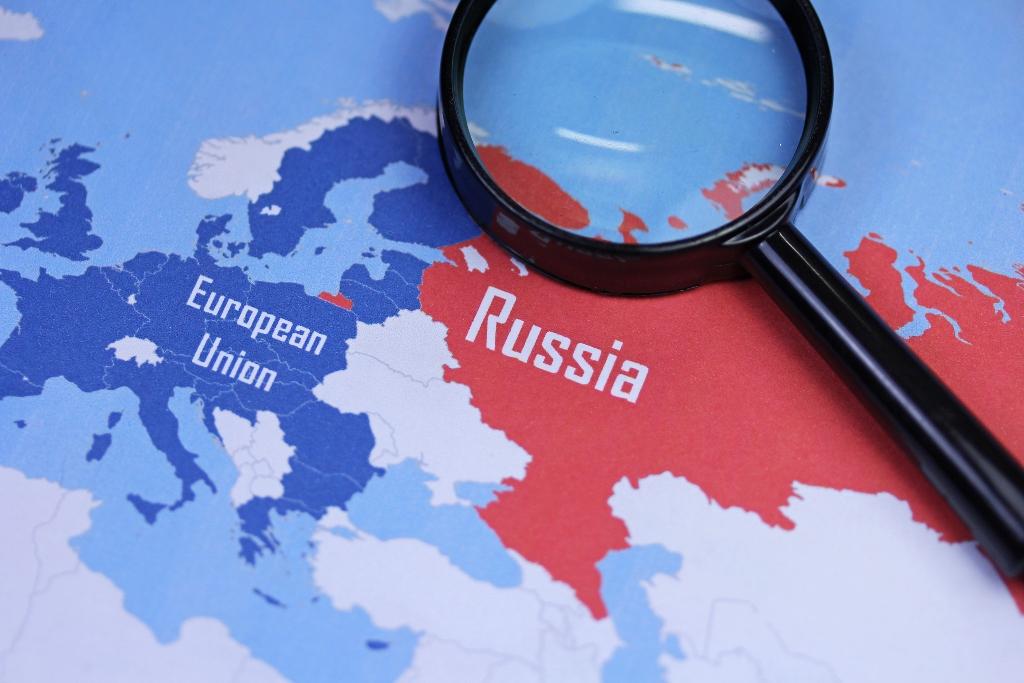 Евросоюз и Россия на карте