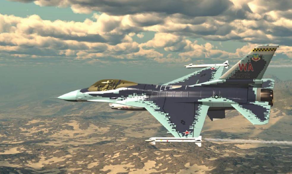 F-16, перекрашенный под Cy-57
