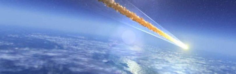 Вход метеорита в верхние слои земной атмосферы отмечается появлением яркого свечения