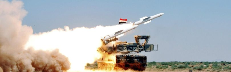 An undated handout photo distributed by Syrian News Agency (SANA) on July 9, 2012 shows a missile being launched from a mobile platform during a live ammunitions exercise by Syrian air defence forces in an undisclosed location. REUTERS/SANA/Handout (SYRIA - Tags: MILITARY POLITICS) FOR EDITORIAL USE ONLY. NOT FOR SALE FOR MARKETING OR ADVERTISING CAMPAIGNS. THIS IMAGE HAS BEEN SUPPLIED BY A THIRD PARTY. IT IS DISTRIBUTED, EXACTLY AS RECEIVED BY REUTERS, AS A SERVICE TO CLIENTS - RTR34RZJ