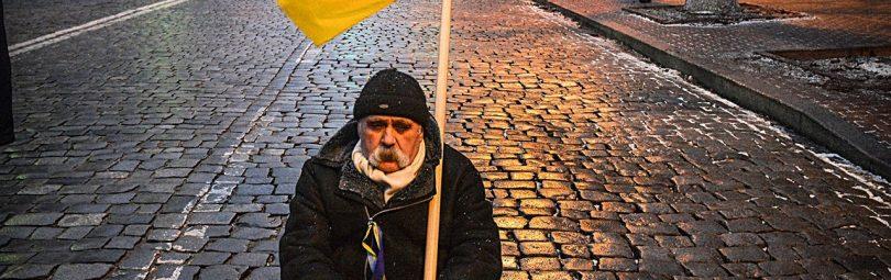 Украинец с флагом