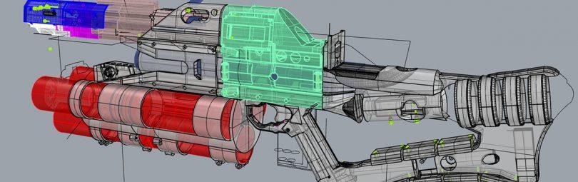 Схема электромагнитной пушки