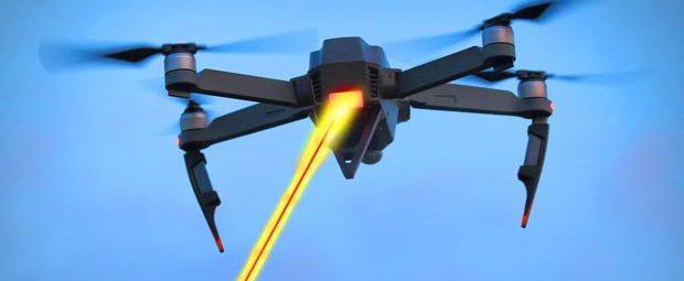 БПЛА с лазерным фонарем