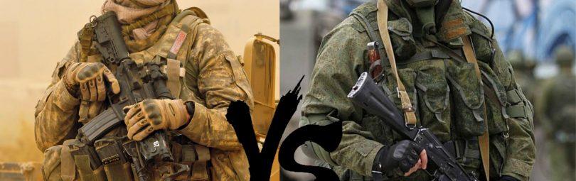 Пехота США и России