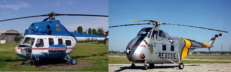 Ми-2 и Сикорский Н-19